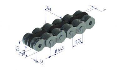 AL0666CPI plastic leaf chain