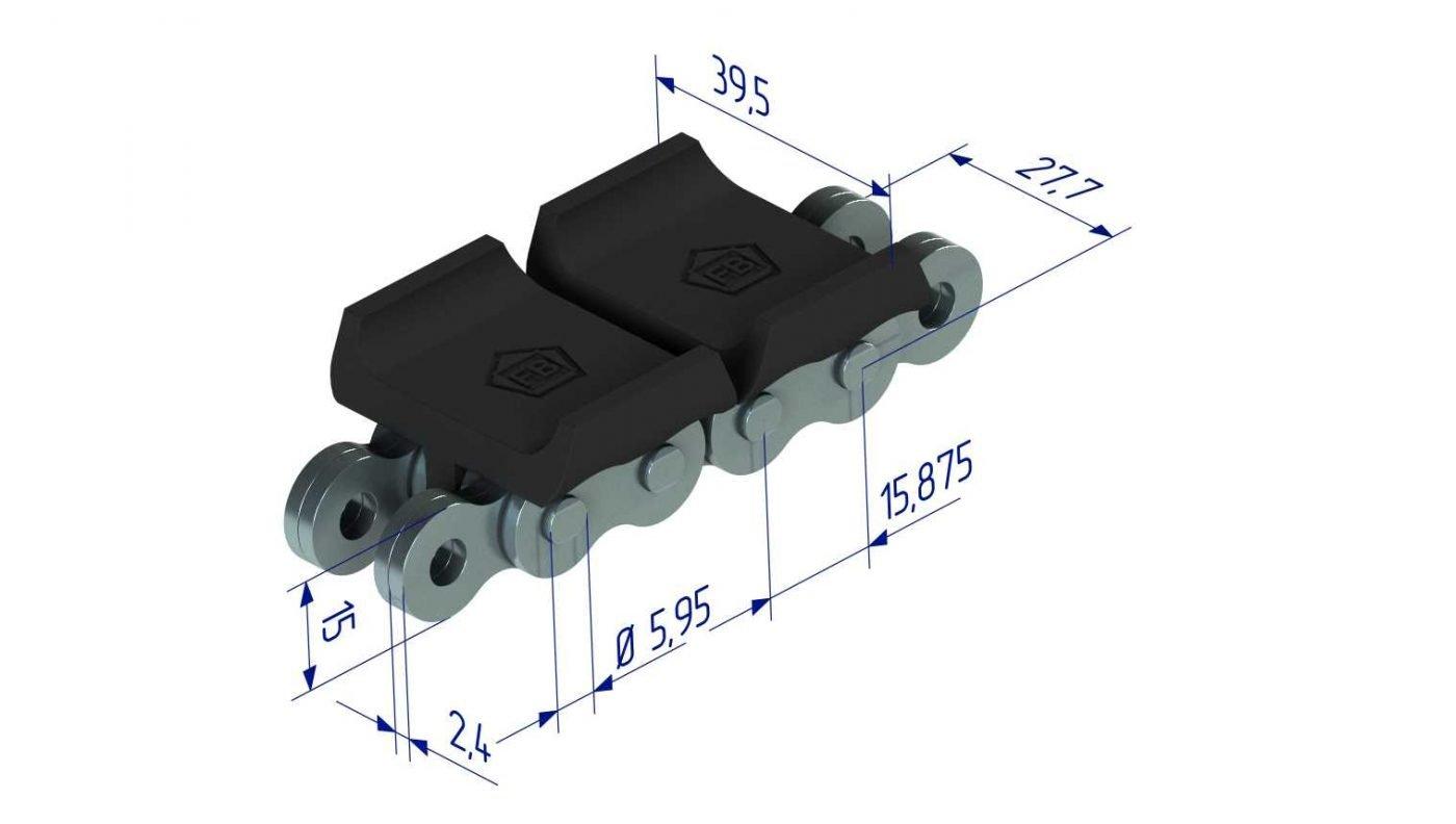 BL0544CPI plastic leaf chain