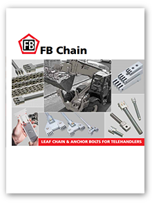 Leaf chain and anchor bolts or telehandlers