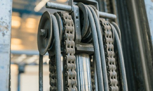 What is the best chain wear tool for materials handling equipment?